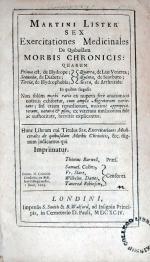Sex Exercitationes Medicinales De Quibusdam Morbis Chronicis