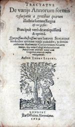 Tractatvs De varijs Annorum formis usurpatis a gentibus quarum...