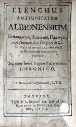 Elenchus Antiquitatum Albionensium Britannorum, Scotorum, Danorum...