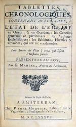 Tablettes Chronologiques, Contenant Avec Ordre L'État De L'Eglise...
