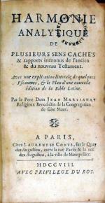 Harmonie Analytique De Plusieurs Sens Cachés & rapports inconnus...