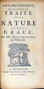 Esclaircissement, Ou La Suite Du Traité De La Nature Et De La Grace
