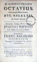 Octavius. …Praemittitur Franc. Balduini Dissertatio