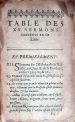 Vingt sermons sur divers textes tirez de l'Ecriture Saincte