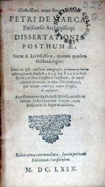 Dissertationes Posthumae, Sacrae & Ecclesiasticae, quarum quaedam...