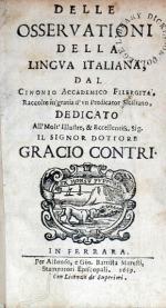 Delle Osservationi Della Lingva Italiana