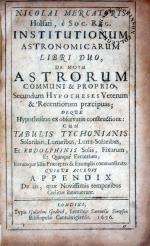 Institutionum Astronomicarum Libri Duo, …Cum Tabulis Tychonianis...