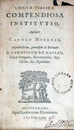 Lingvae Italicae Compendiosa Institvtio