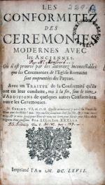 Les Conformitez Des Ceremonies Modernes Avec les Anciennes...