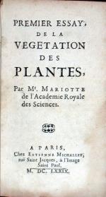Essays De Phisique Ov Memoires pour servir à la Science des choses naturelles