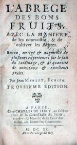 L'Abregé Des Bons Fruits, Avec La Maniere de les connoistre...