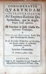 Consideratio Qvarvndam Controversiarvm Ad Regimen Ecclesiae...