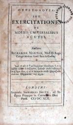 Πυρετολογια: Seu Exercitationes De Morbis Universalibus Acutis