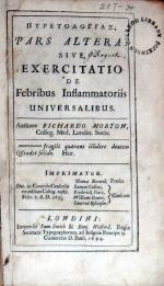 Πυρετολογιας, Pars Altera: Sive, Exercitatio De Febribus Inflammatoriis Universalibus