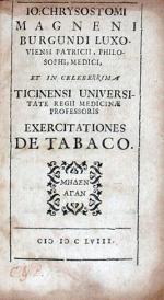 Exercitationes De Tabaco