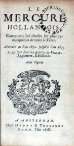 Le Mercure Hollandois, Contenant les chose les plus remarquables (VIII)