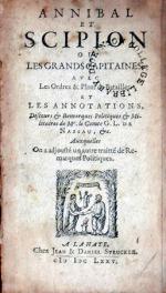 Annibal Et Scipion Ou Les Grands Capitaines Avec Les Ordres & Plans...