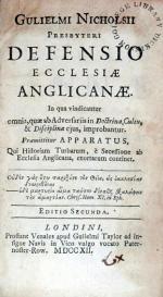 Defensio Ecclesiae Anglicanae. In qua vindicantur omnia...