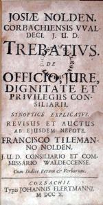 Trebativs. De Officio, Jure, Dignitate Et Privilegiis Consiliarii...