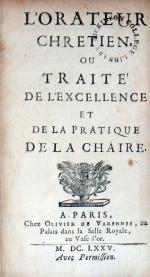 L'Orateur Chretien, Ou Traité De L'Excellence Et De La Pratique De La Chaire