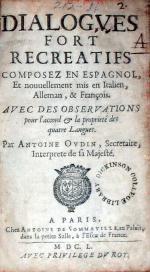 Dialogves Fort Recreatifs Composez En Espagnol, Et nouuellement mis...