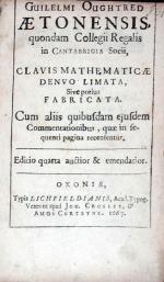 Clavis Mathematicae Denvo Limata, Sive potius Fabricata