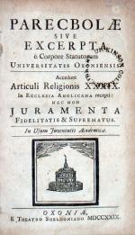 Parecbolae Sive Excerpta è Corpore Statutorum Universitatis Oxoniensis...