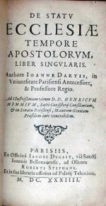 De Statv Ecclesiae Tempore Apostolorvm, Liber Singvlaris