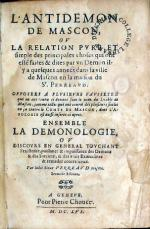 L'Antidemon De Mascon..Ensemble La Demonologie