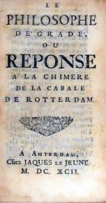 Le Philosophe Dégradé, ou Reponse a la Chimere de la Cabale de Rotterdam