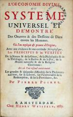 L'Oeconomie Divine, Ou Systéme Universel Et Démontré Des Oeuvres...