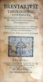 Breviarivm Theologicvm, Continens Definitiones, Descriptiones...