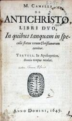 De Antichristo, Libri Dvo, In quibus tanquam in speculis status...