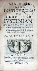 Paraphrase Des Institvtions De L'Emperevr Ivstinian