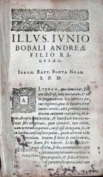 Magiae Natvralis Libri Viginti, In Qvibvs Scientiarvm Naturalium diuitiae...