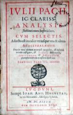 Analysis Institutionum Imperialium, Cvm Selectis...