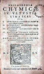 Philosophiae Chymicae IV. Hermetis Trismegisti Liber de Compositione...