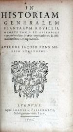 In Historiam Generalem Plantarvm Rovillii...