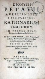 Rationarium Temporum In Partes Duas, Libros tredecim distributum