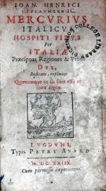 Mercvrivs Italicvs, Hospiti Fidvs Per Italiae Praecipuas Regiones & Vrbes...