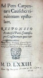 Ad Petri Carpentarii Causidici virulentam epistolam...