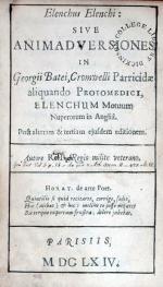 Elenchus Elenchi: Sive Animadversiones in Georgii Batei...