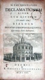 Declamationum Liber. Cum Ejusdem…Dialogo De Causis Corruptae Eloquentiae