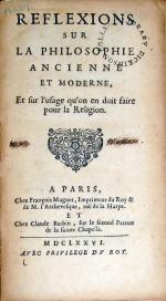 Reflexions Sur La Philosophie Ancienne Et Moderne, Et sur l'usage...
