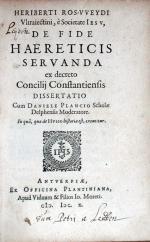 De Fide Haereticis Servanda ex decreto Concilij Constantiensis Dissertatio