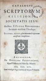 Catalogvs Scriptorvm Religionis Societatis Iesv