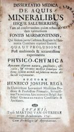 Dissertatio Medica De Aquis Mineralibus Iisque Saluberrimis