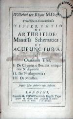 Dissertatio De Arthritide: Mantissa Schematica: De Acupunctura: Et Orationes Tres...