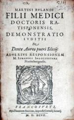 Demonstratio Ivditii De Dente Aureo pueri Silesij...
