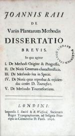 De Variis Plantarum Methodis Dissertatio Brevis, De Methodi Origine & Progressu (I)